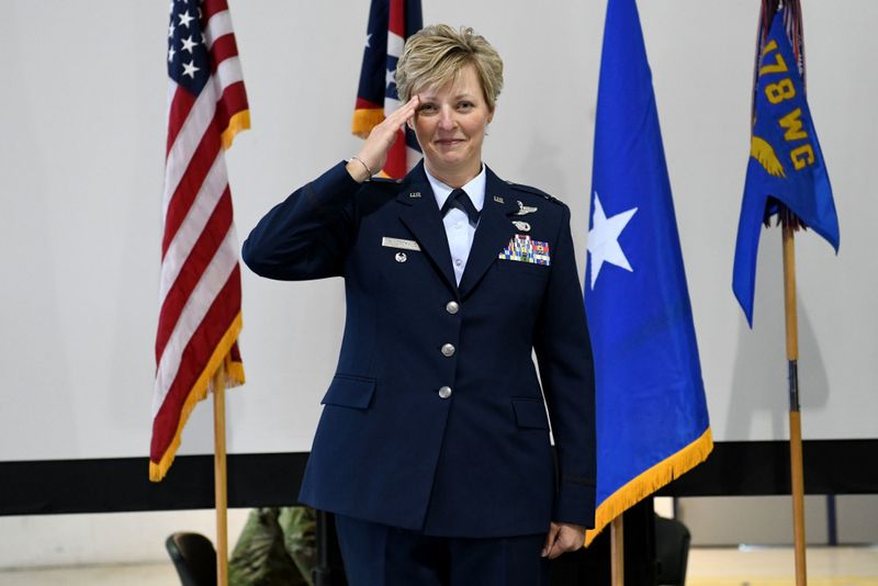 Col. Kimberly Fitzgerald, commander of the 178th Wing. CONTRIBUTED PHOTO / SENIOR AIRMAN AMBER MULLEN  - 4OSBR42FGPLCD23CCPTBVW3DLY - Ohio plays an outsized role in space, Space Forum declares
