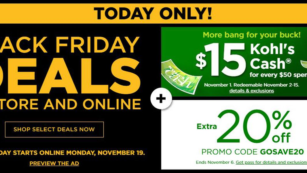 Kohl S Debuts Black Friday Ad With Special One Day Sale