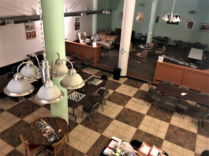 The first floor of 18 W. Fifth St., which is home to the Dayton Chess Club. The new owner of the property hopes to bring a restaurant to the first floor. CORNELIUS FROLIK / STAFF