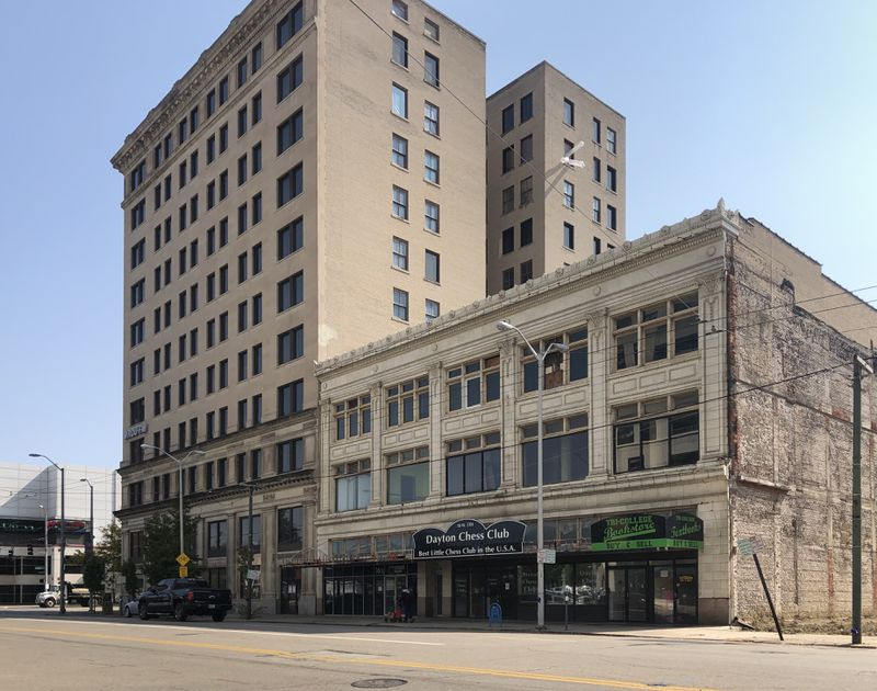 The Reed-Steffan building, home to the Dayton Chess Club, on West Fifth St. CORNELIUS FROLIK / STAFF
