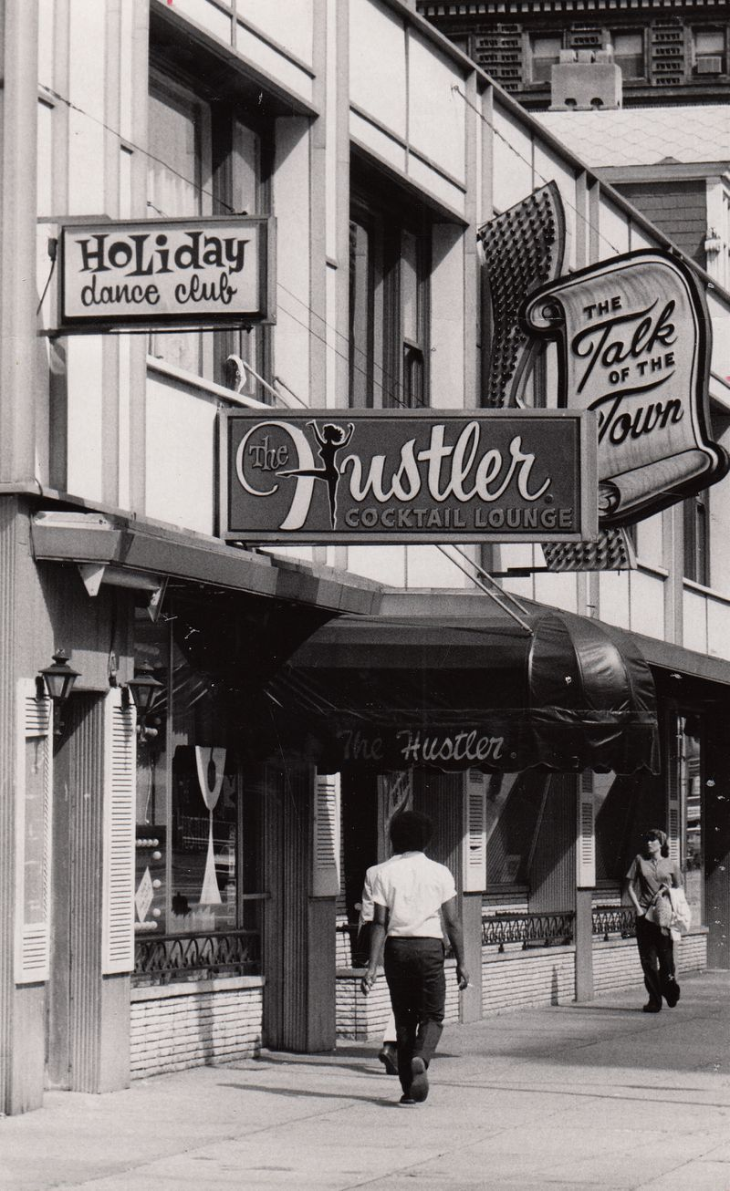 America's first Hustler Club. The Hustler Cocktail Lounge, 215 N. Main St., Dayton, Ohio, August 1973. File photo