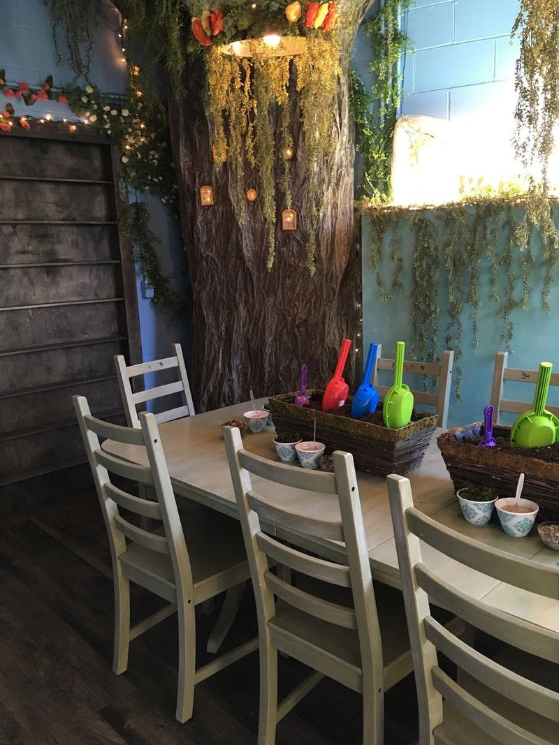 The LIttle Fairy Garden Shop in Yellow Springs has a party room that's available for drop-in-miniature garden workshops and birthday gatherings. CONTRIBUTED