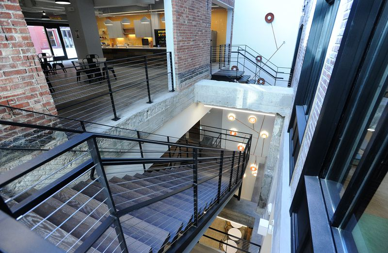 The Dayton Daily News received a sneak peak of the hub on Tuesday, which fills about 95,000 square feet of space in the arcade complex. MARSHALL GORBYSTAFF