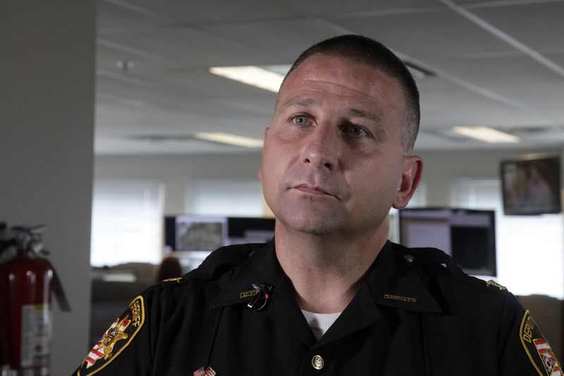 Rob Streck, Chief Deputy of the Montgomery County Sheriff's Office, said dispatchers are taught to get as much information as possible from the caller because location technology is not consistently accurate. BYRON STIRSMAN/STAFF