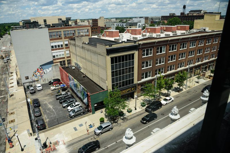 On Friday, June 26, 2020, residents started moving in to The Elks Lofts, located at 100 E. 3rd St. in downtown Dayton's Fire Blocks District. Loft apartments are now available on floors 2 through 5 of the The Elks Building, built in 1916 and designed by architect Albert Pretzinger for businessman Adam Schantz, Jr. and the Elks fraternal organization. Occupancy is already at 50 percent. Construction continues on the penthouse (completion date TBA), originally built by Dave Hall for his private residence in 1961 prior to becoming a commissioner and later mayor of the City of Dayton. Leasing information can be found by visiting fireblocksdistrict.com. TOM GILLIAM / CONTRIBUTING PHOTOGRAPHER