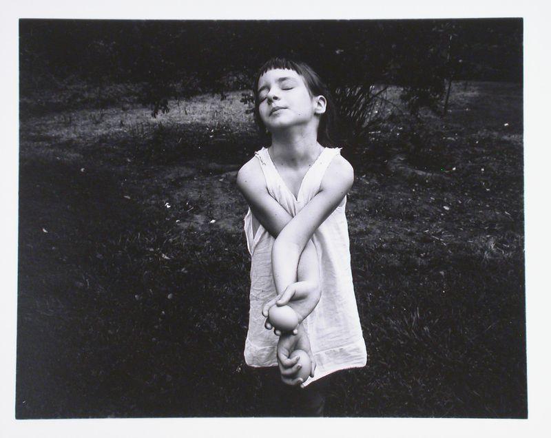 Emmet Gowin's photograph of his niece Nancy.