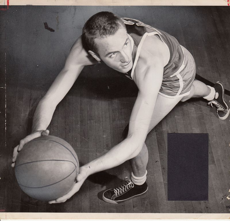 """Don """"Monk"""" Meineke was one of the greatest basketball players in University of Dayton history and the NBA's first rookie of the year. Meineke was the cornerstone for coach Tom Blackburn's program as it gained national acclaim in the early 1950s. He was a two-time All-American and is still the sixth-leading scorer in UD history with 1,866 points."""